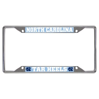 Fanmats North Carolina Tar Heels Chrome Metal License Plate Frame