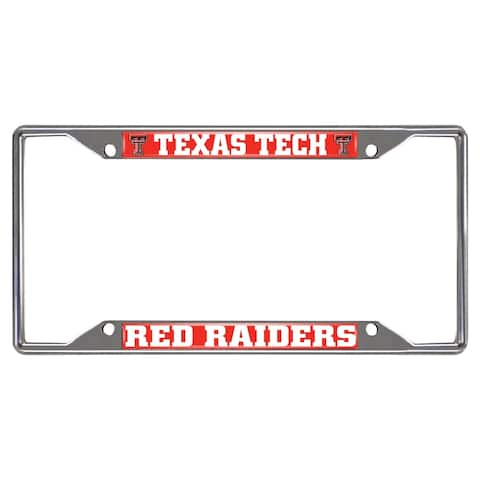 FANMATS Texas Tech License Plate Frame