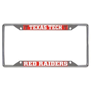 Fanmats Texas Tech Raiders Chrome Metal License Plate Frame|https://ak1.ostkcdn.com/images/products/10700205/P17761096.jpg?impolicy=medium