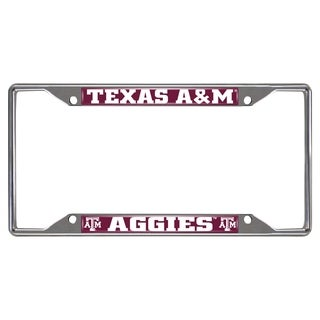 Fanmats Texas A&M Aggies Chrome Metal License Plate Frame