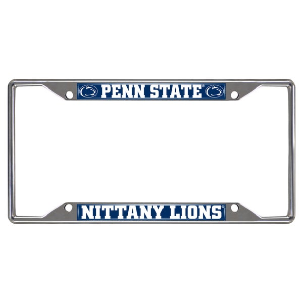 Fanmats Penn State Nittany Lions Chrome Metal License Plate Frame