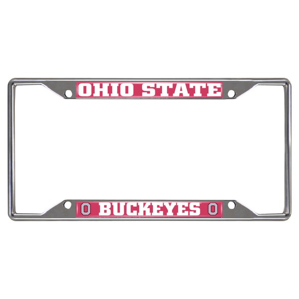 Fanmats Ohio State Buckeyes Chrome Metal License Plate Frame