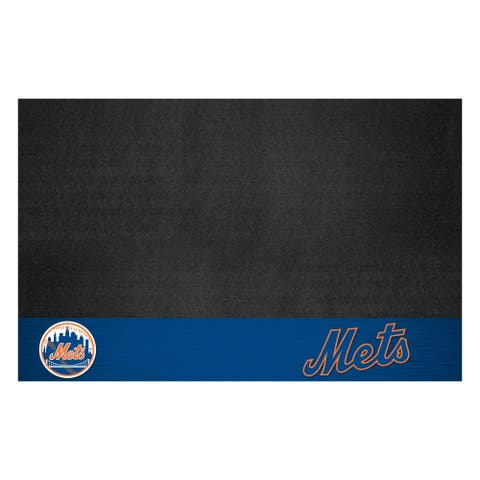 "MLB - New York Mets Black Vinyl Grill Mat 26""x42"""