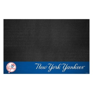 Fanmats New York Yankees Black Vinyl Grill Mat