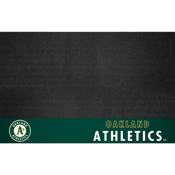 Fanmats Oakland Athletics Black Vinyl Grill Mat