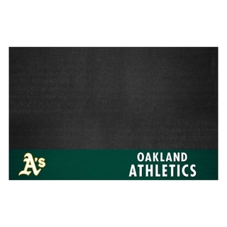 Fanmats Oakland Athletics Black Vinyl Grill Mat