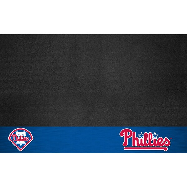 Fanmats Philadelphia Phillies Black Vinyl Grill Mat