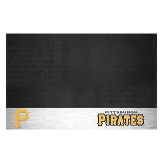 Fanmats Pittsburgh Pirates Black Vinyl Grill Mat