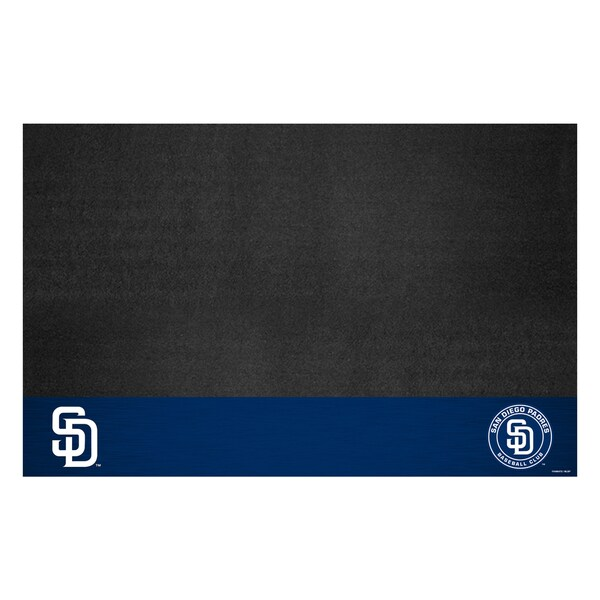 Fanmats San Diego Padres Black Vinyl Grill Mat