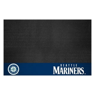 Fanmats Seattle Mariners Black Vinyl Grill Mat