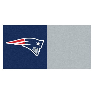 Fanmats New England Patriots Blue and Red Carpet Tiles