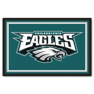 Fanmats Philadelphia Eagles Teal Nylon Area Rug (5u0027 ...