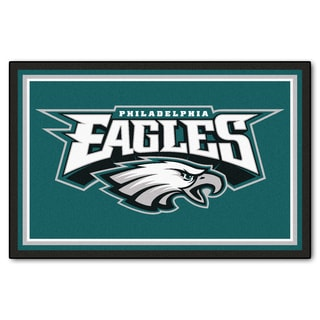 Fanmats Philadelphia Eagles Teal Nylon Area Rug (5' x 8')