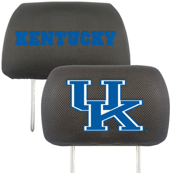 Fanmats Kentucky Wildcats Collegiate Charcoal Head Rest Covers Set of 2