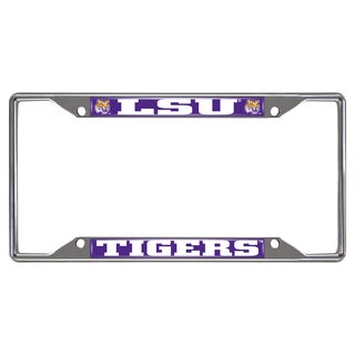 Fanmats LSU Tigers Chrome Metal License Plate Frame