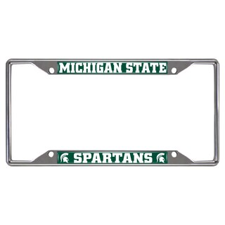 Fanmats Michigan State Spartans Chrome Metal License Plate Frame