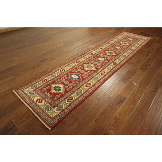 Super Kazak Made In Pakistani Hand-knotted Wool Oriental Area Rug (2'7 x 10'7)