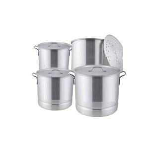 8-piece Aluminum Steamer Pot Set