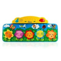 Flower Garden Kick and Touch Musical Baby Piano Mat with Flashing Lights and Sounds