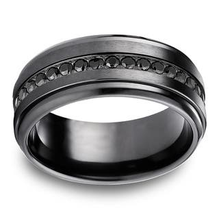 Black Titanium Black Cubic Zirconia Eternity Ring|https://ak1.ostkcdn.com/images/products/10700412/P17761288.jpg?impolicy=medium