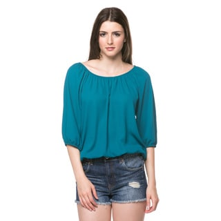 3/4 Sleeve Round Neck Top