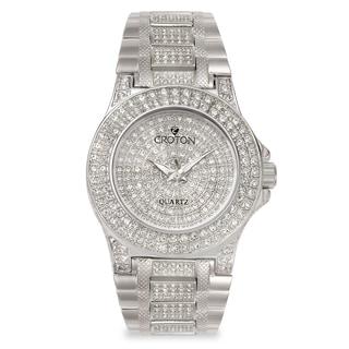 Croton Men's CN307538RHPV Stainless Steel Silvertone Crystal Bracelet Watch