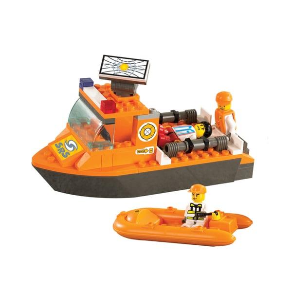 Sluban Interlocking Bricks First Aid Boat M38-B0101