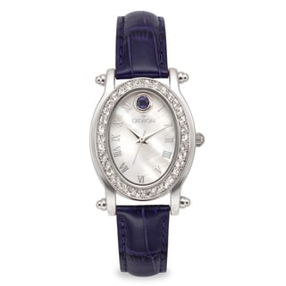 Croton Women's CN207537BLMP Stainless Steel September Birthstone Mother of Pearl Watch