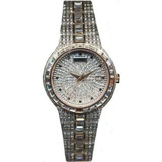 Croton Men's CN307540TTPV Stainless Steel Two-tone Baguette Bezel Watch