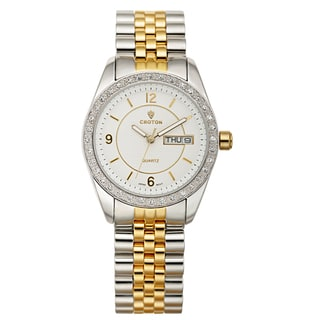 Croton Women's CN207279TTCR Stainless Steel Two-tone Crystal Bezel Watch