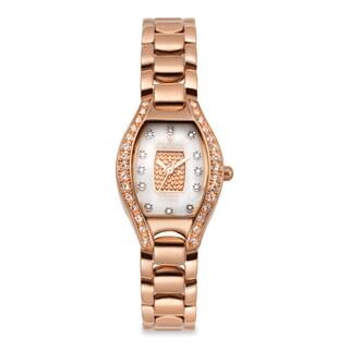 Croton Women's CN207534RGPV Stainless Steel Rosetone Crystal Bezel Watch
