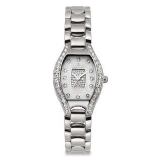 Croton Women's CN207534SSPV Stainless Steel Silvertone Crystal Bezel Watch