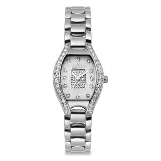 Croton Women's CN207534SSPV Stainless Steel Silvertone Crystal Bezel Watch