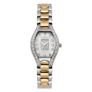 Croton Women's CN207534TTPV Stainless Steel Two-tone Crystal Bezel Watch