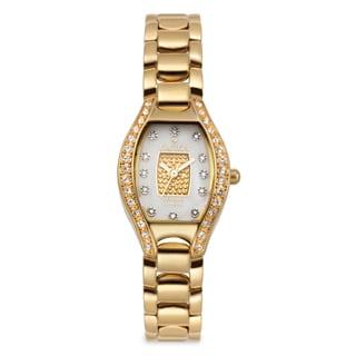 Croton Women's CN207534YLPV Stainless Steel Goldtone Crystal Bezel Watch