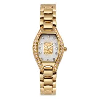 Croton Women's CN207534YLPV Stainless Steel Goldtone Crystal Bezel Watch