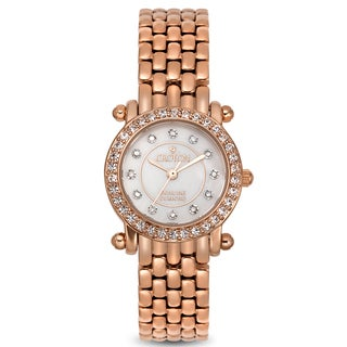Croton Women's CN207535RGMP Stainless Steel Rosetone Mother of Pearl Watch