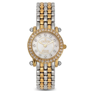 Croton Women's CN207535TTMP Stainless Steel Two-tone Mother of Pearl Watch