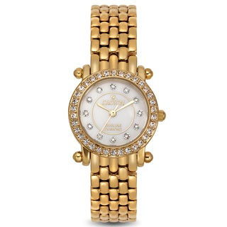 Croton Women's CN207535YLMP Stainless Steel Goldtone Mother of Pearl Watch