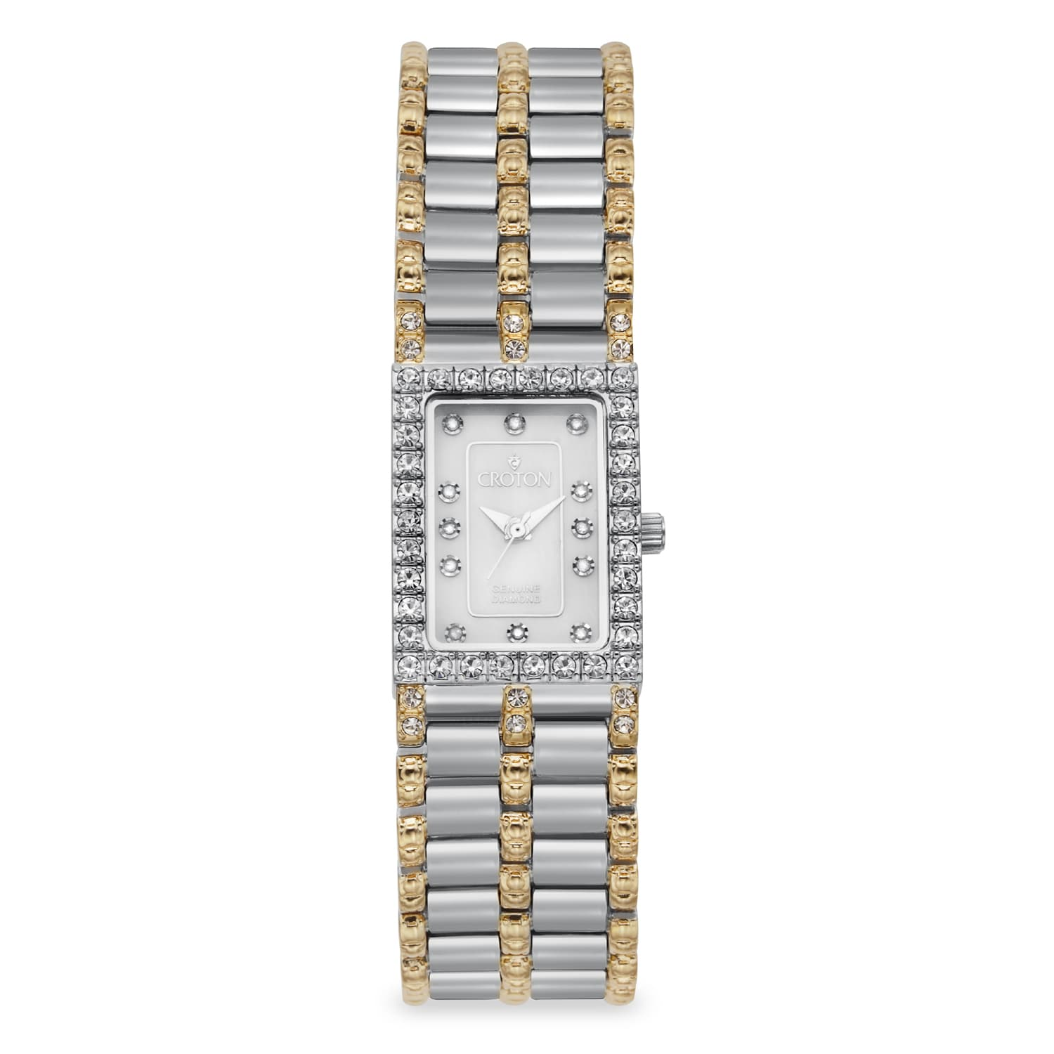 Croton Women's CN207536TTMP Stainless Steel Two-tone Moth...