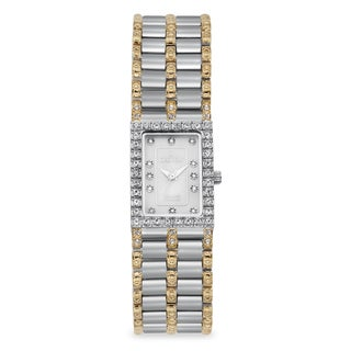 Croton Women's CN207536TTMP Stainless Steel Two-tone Mother of Pearl Watch