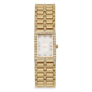 Croton Women's CN207536YLMP Stainless Steel Goldtone Mother of Pearl Watch