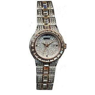 Croton Women's CN207540TTPV Stainless Steel Two-tone Baguette Bezel Watch