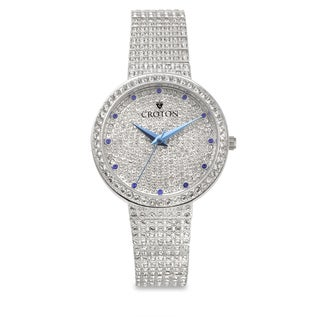 Croton Women's CN207541RHPV Stainless Steel Blue Metallic Hand Watch