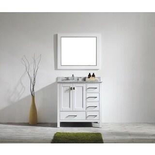 Eviva Aberdeen White Bathroom Vanity with Carrera Countertop