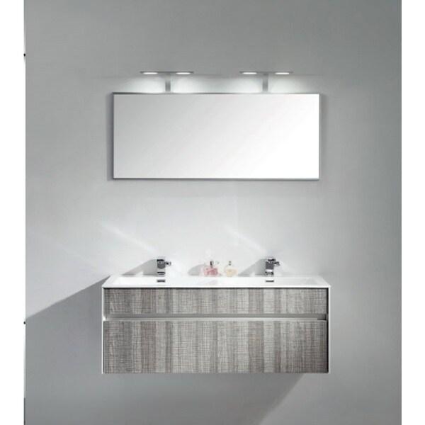 Eviva ashy 48 quot wall mount modern bathroom vanity set high gloss ash
