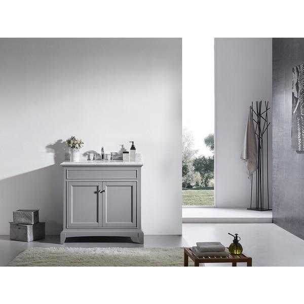 "Shop Eviva Elite Stamford® 36"" Gray Bathroom Vanity Set ..."