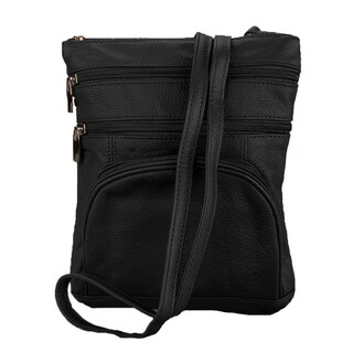 Women's Continental Leather Compact Slim Cross Body Shoulder Bag
