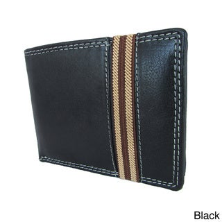 Continental Leather Men's Bifold Wallet and Removable Card Case