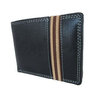 Continental Leather Men's Bifold Wallet and Removable Card Case - M